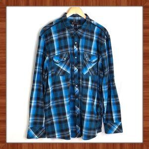 INC Plaid Button Down Shirt Size XXL
